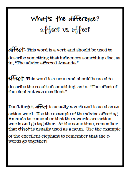 affecteffect. affect