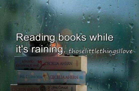 reading while raining