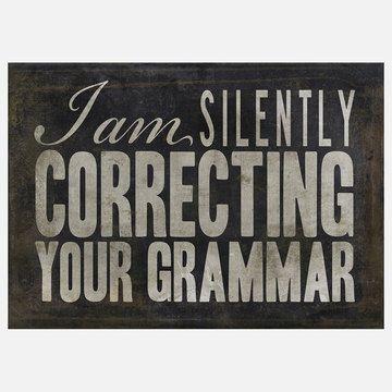 silently correcting