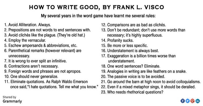 Writing Good