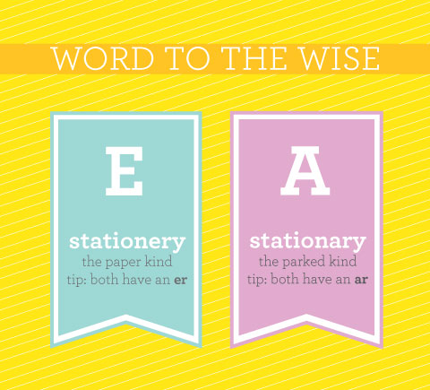 Stationery-Stationary
