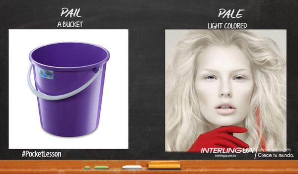 pail vs pale