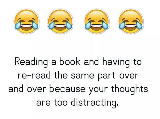 distracting thoughts